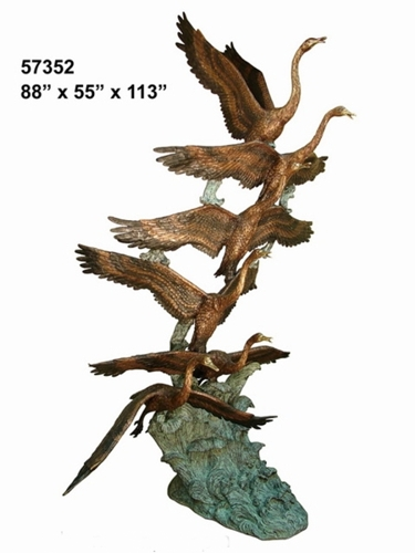 Bronze Swan Fountain - AF 57352