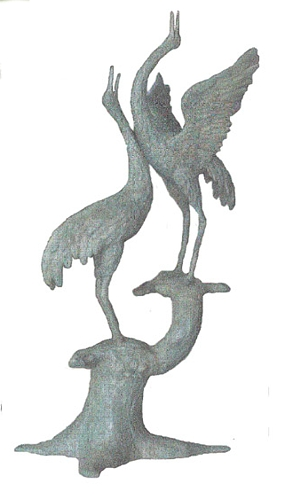 Bronze Crane Fountain/Statue - BB 314-20
