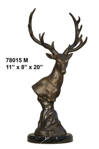 Bronze Deer Head Statue - AF 78015