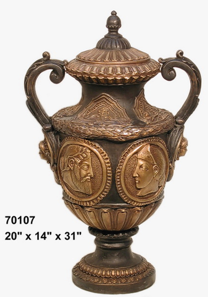 Bronze Roman Relief Urn - AF 70107