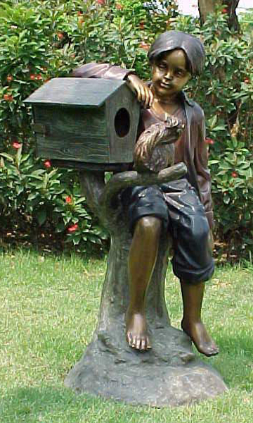 Bronze Themed Boy Mailbox - PA G1020