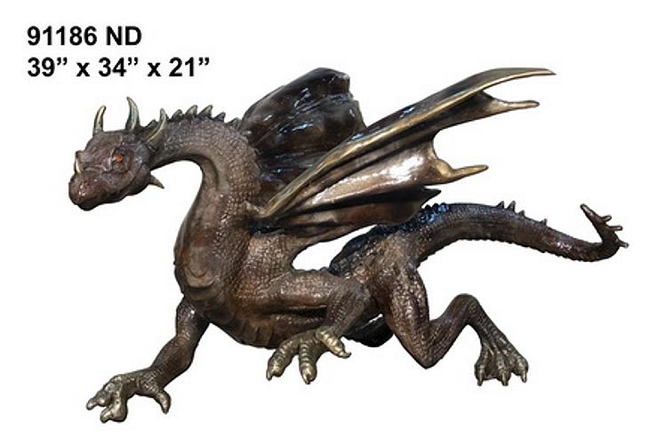 Bronze Dragon Statues - AF 91186 ND