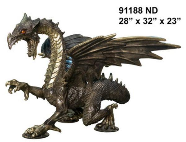 Bronze Dragon Statues