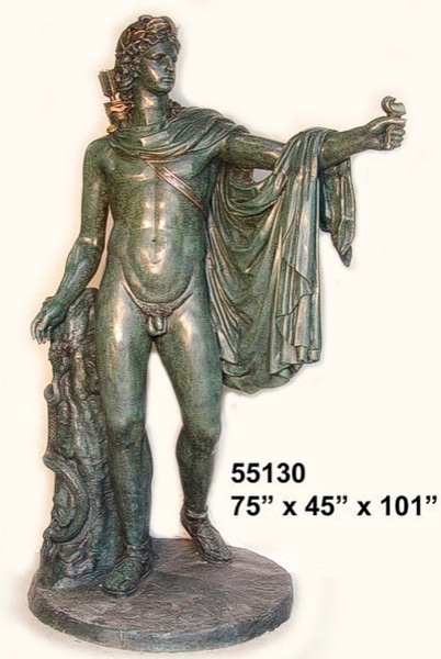 Bronze Greek God Fountain - AF 55130F