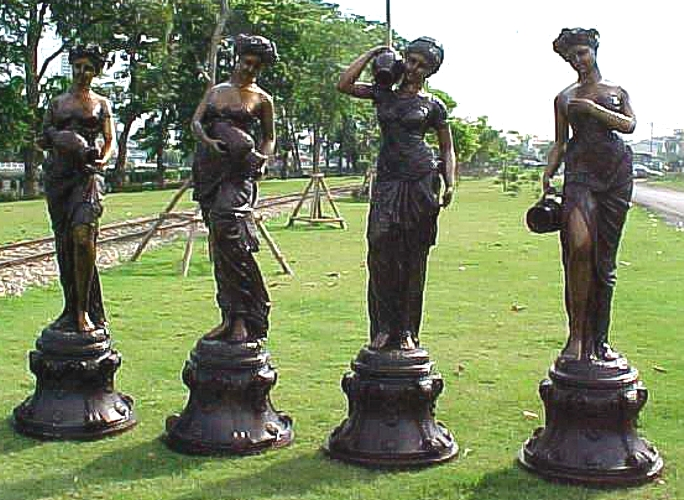Bronze Four Seasons Statues - PA F-1044 ABCD-1