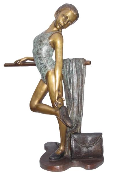Bronze Ballerina Statue - KT P-784
