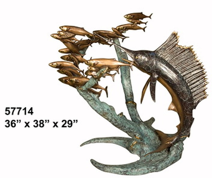 Bronze Sailfish Fountain - AF 57714-F