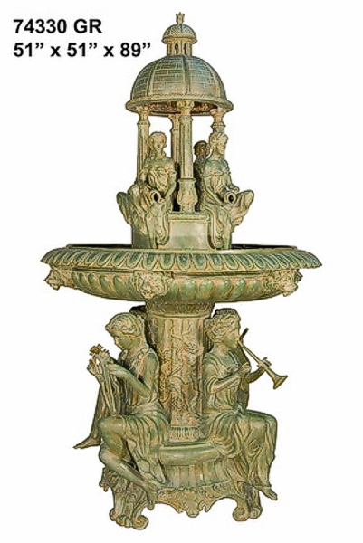 Bronze Musical Ladies Dome Fountain - AF 74330GR