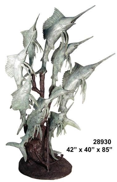 Bronze Swordfish Statue Sculpture - AF 28930-S