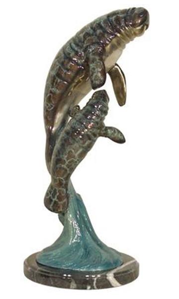 Bronze Manatee, Calf Statue - AF 94090NB-S