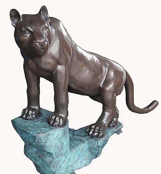 Bronze Puma School Mascot - AF 28995-1