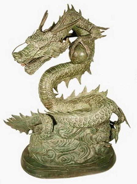 Bronze Dragon Statues - AF 31090-S