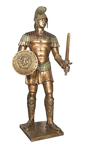 Bronze Spartan Statue