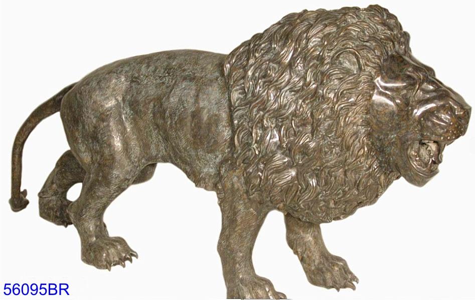 Bronze Lion Statues - AF 56095 BR