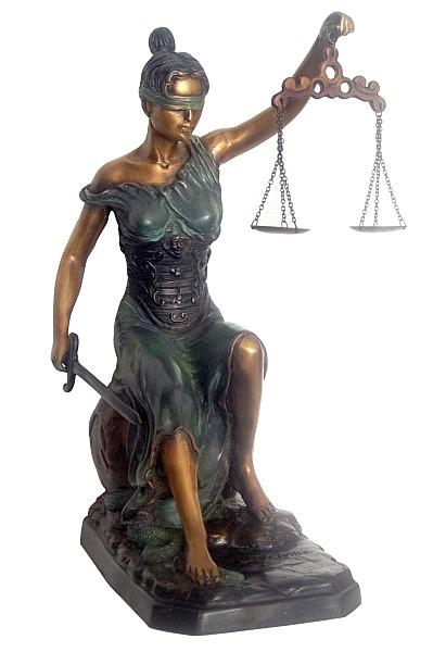 Bronze Scales of Liberty Statue