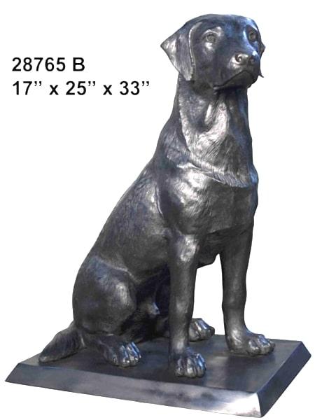 Bronze Labrador Retriever Statue - AF 28767 B