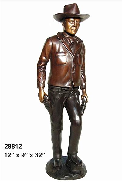 Bronze Gun Slinger Statue - AF 28812