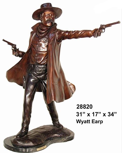 Bronze Wyatt Earp Statue - AF 28820