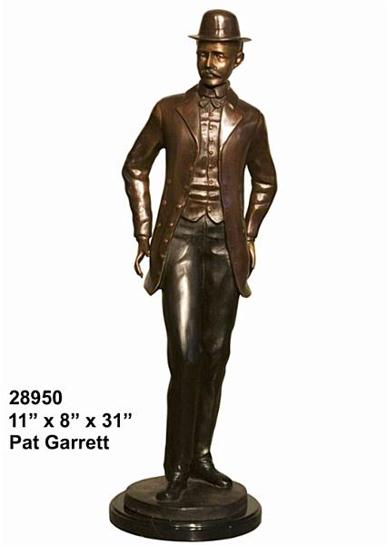 Bronze Pat Garrett Statue - AF 28950