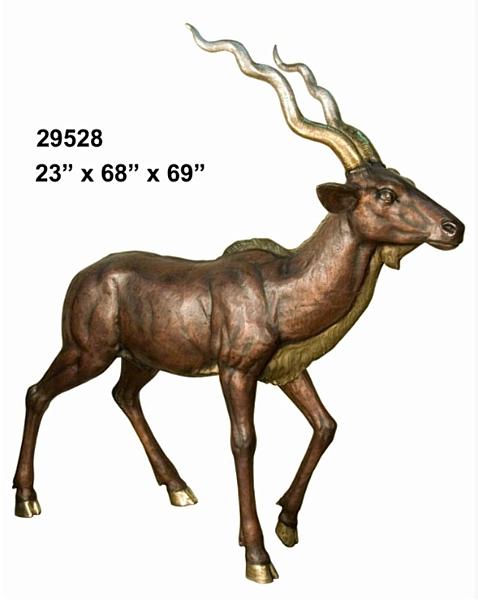 Bronze Gazelle Statues - AF 29528