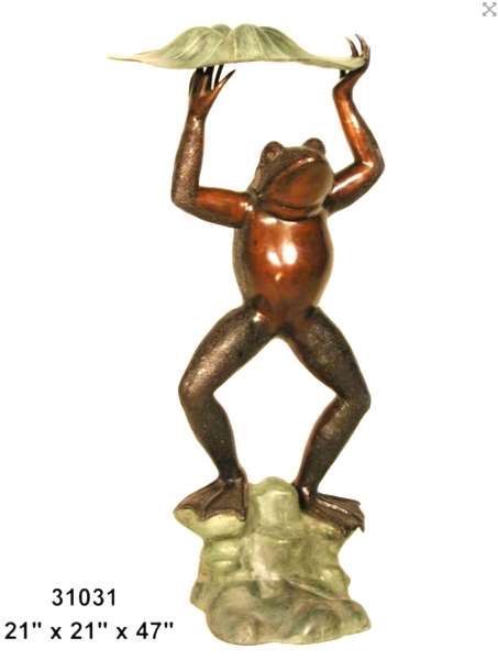 Bronze Frog Fountains - AF 31031