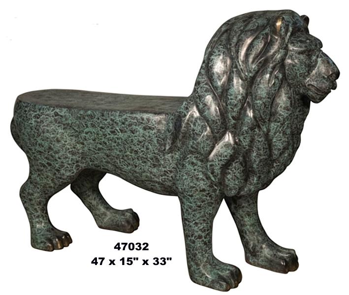 Bronze Lion Bench - AF 47032