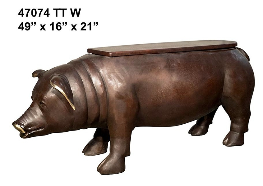 Bronze Pig Bench - AF 47074 TT