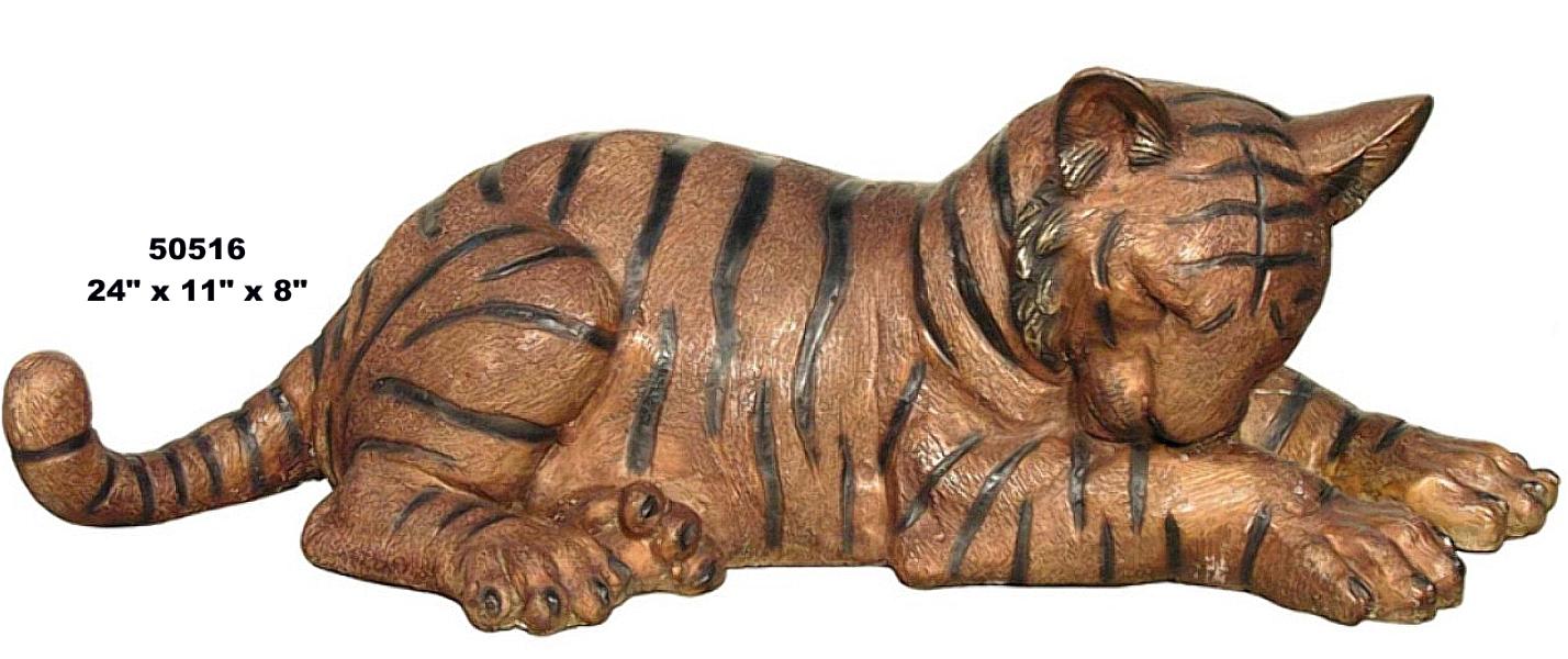 Bronze Bengal Tiger Cub Statues - AF 50516