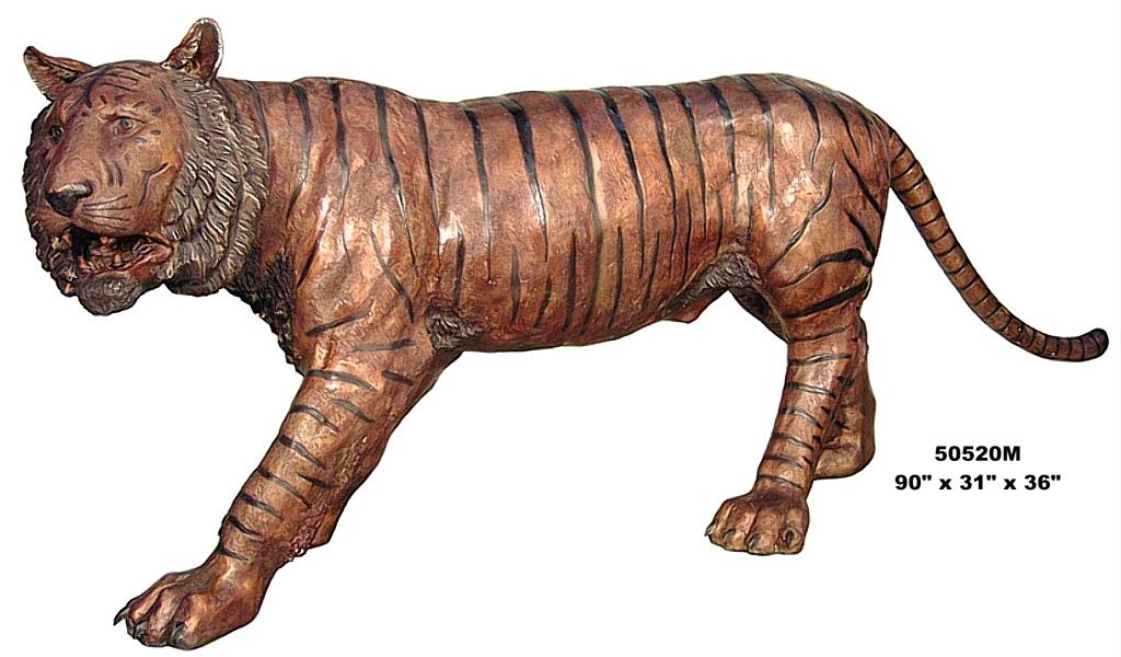 Bronze Bengal Tiger Statues - AF 50520M