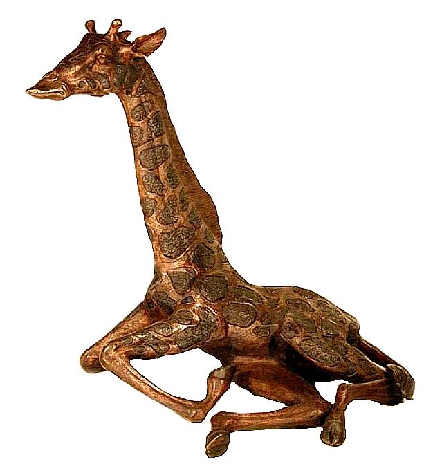 Bronze Baby Giraffe Statues - AF 55019
