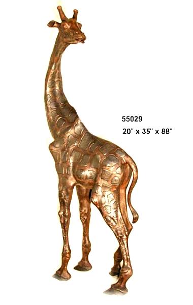 Bronze Giraffe Statues - AF 55029