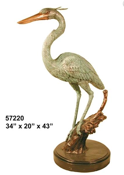 Bronze Crane Statues - AF 57220 S