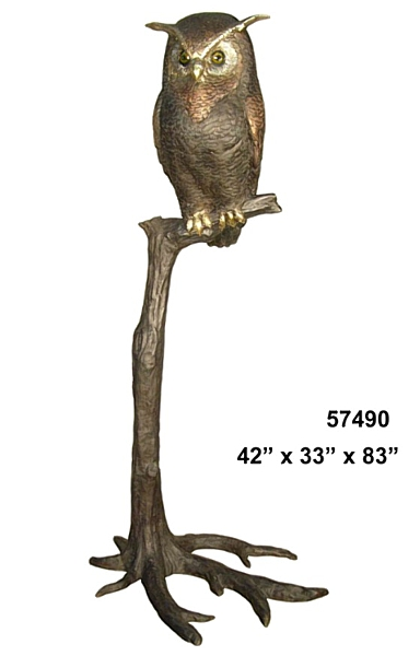 Bronze Owl Statues