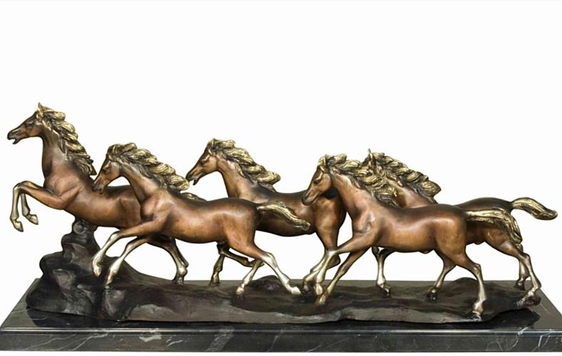 Bronze Wild Horse Statues - AF 57496M TS