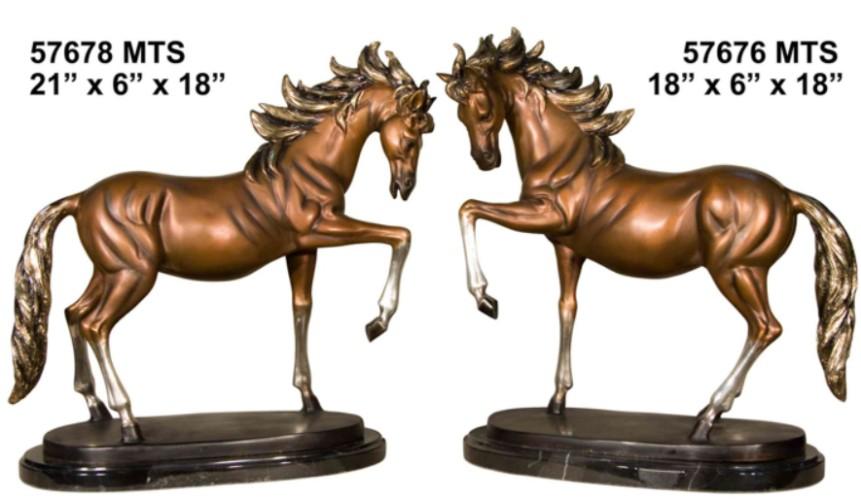Bronze Horse Statues - AF 57678 MTS