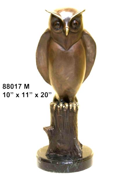 Bronze Owl Statues - AF 88017M