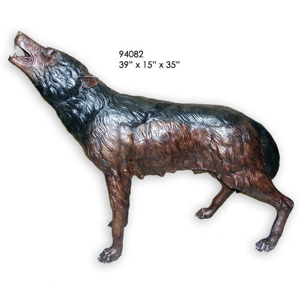 Bronze Wolf Statue - AF 94082