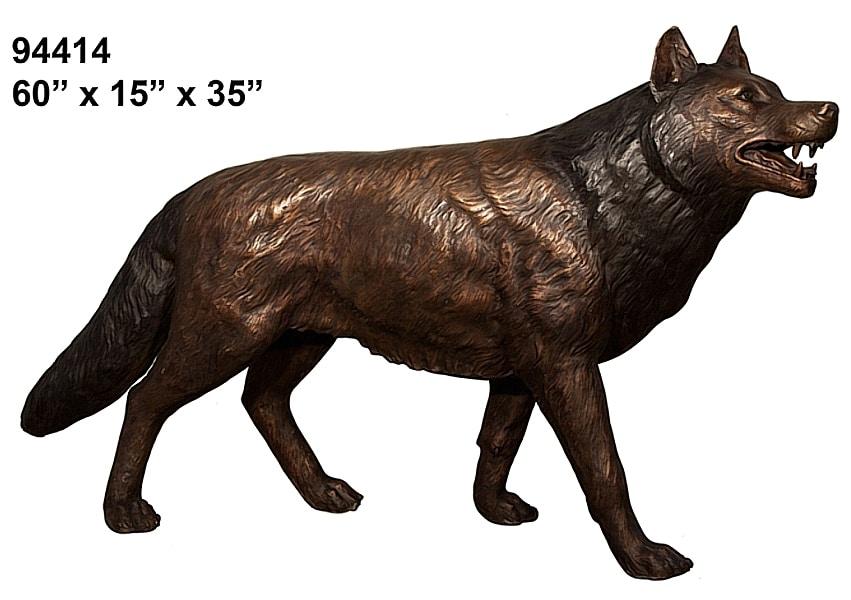 Bronze Wolf Statue - AF 94082-1