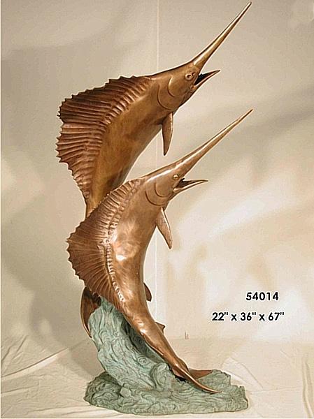 Bronze Swordfish Statues - AF 54014 S