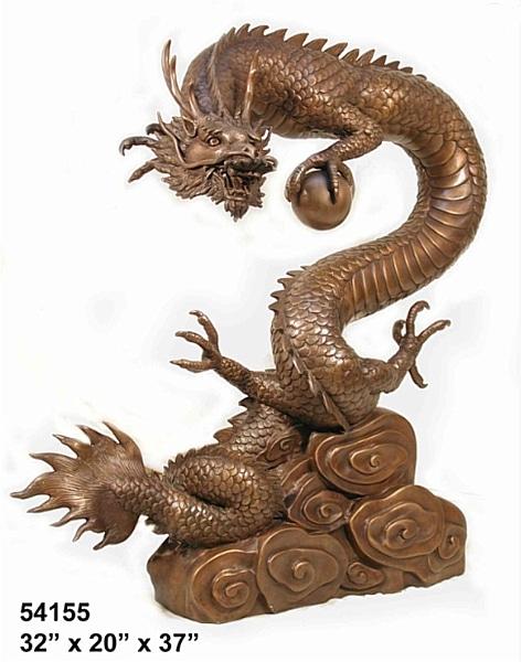 Bronze Dragon Statues - AF 54155-S