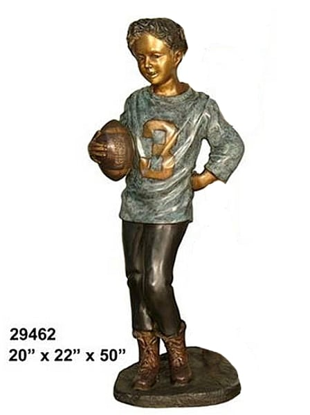 Bronze Football Player Statue - AF 29462-S