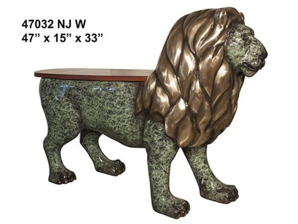 Bronze Lion Benches