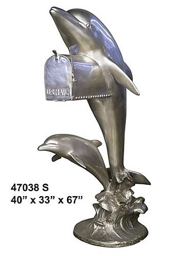 Bronze Dolphin Mailbox - AF 47038