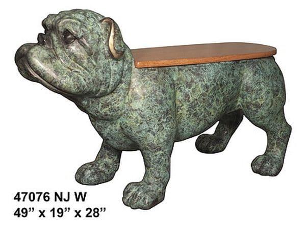 Bronze Bulldog Benches