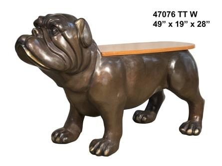 Bronze Bulldog Benches - AF 47076 TT W