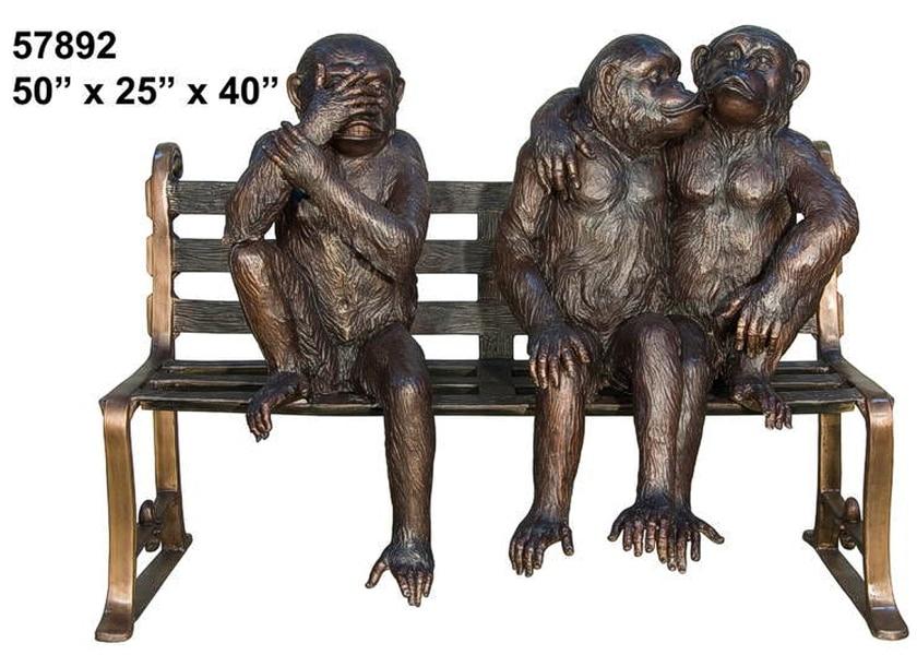 Bronze Monkey Benches - AF 57892