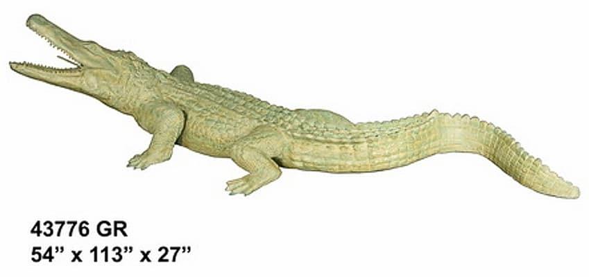 Bronze Alligator Fountains Bronze Crocodile Fountains - AF 43776 GR-F