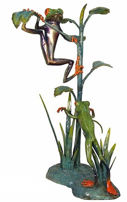 Bronze Frog Fountain Statue - AF 50542-NA
