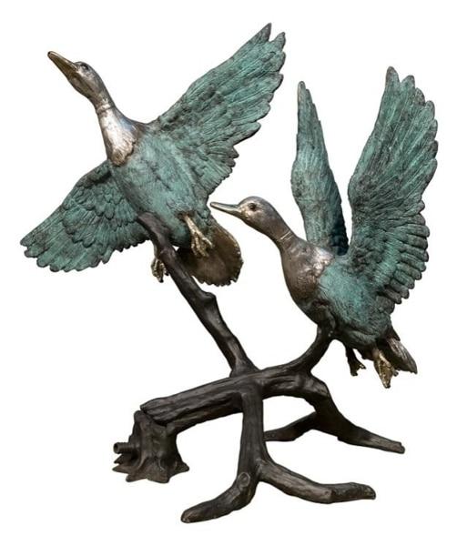 Bronze Flying Duck Statue - AF 50547 BG