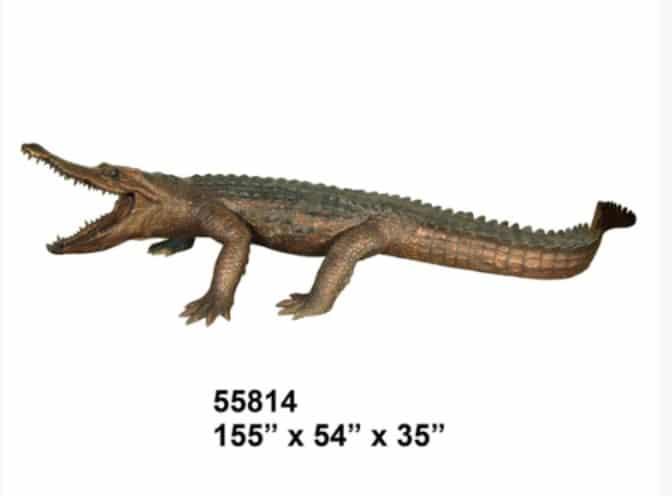 Bronze Alligator Fountains Bronze Crocodile Fountains - AF 55814-F